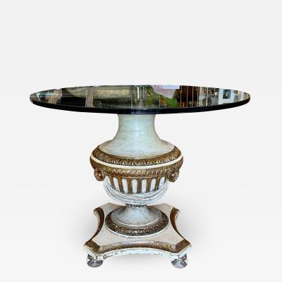 Antique Louis XVI Giltwood Pedestal Breakfast or Side Table
