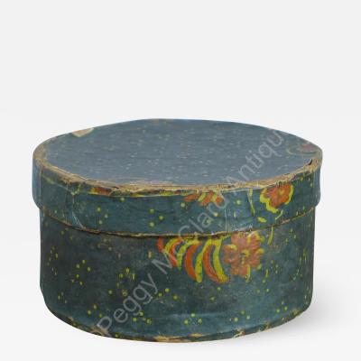 Antique Miniature Round Bandbox aka Wallpaper Box