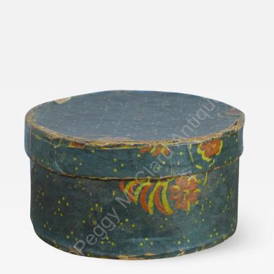 Antique Miniature Round Bandbox aka Wallpaper Box