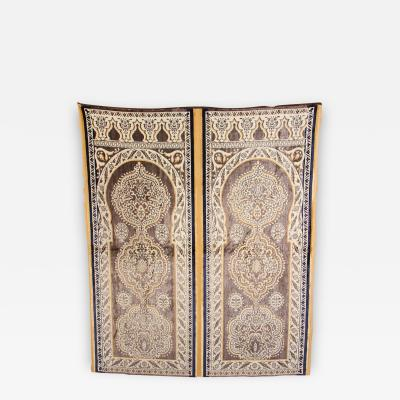 Antique Moroccan Moorish Silk Tapestry