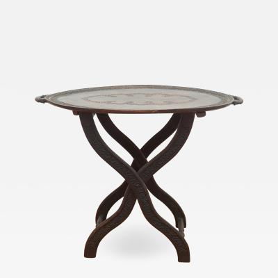 Antique Moroccan Tray Table