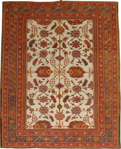 Antique Oushak Carpet rug no j1613