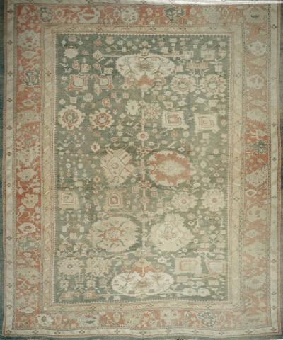 Antique Oushak Rug measuring 16 ft x 19 ft 7 in