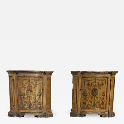 Antique Painted Italian Commodes a Pair