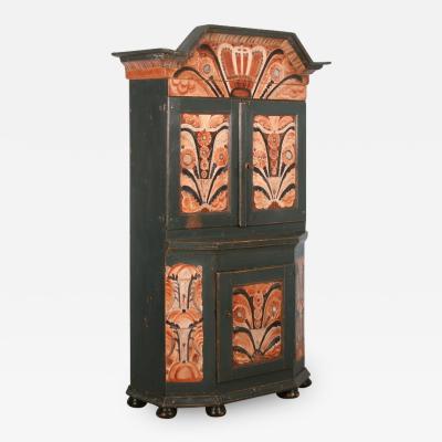 Antique Painted Swedish Cabinet Cupboard Circa 1800 40