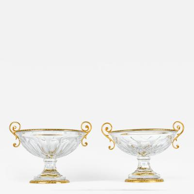 Antique Pair of French Cut Crystal Piece
