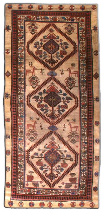 Antique Persian Camel Hair Runner