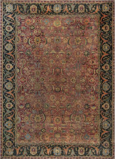 Antique Persian Isfahan Carpet