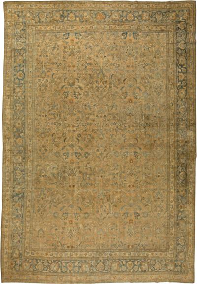 Antique Persian Meshad Rug size adjusted