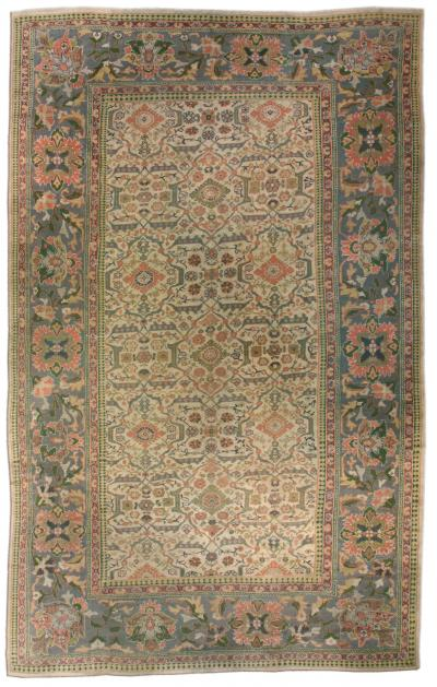 Antique Persian Sultanabad Rug size adjusted