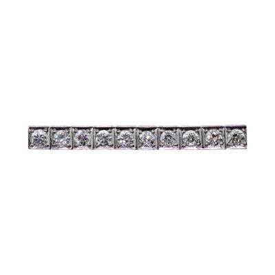 Antique Platinum Diamond Bar Brooch