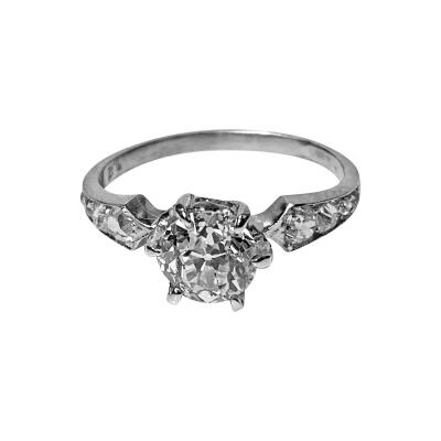 Antique Platinum Diamond Ring C 1910