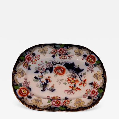 Antique Platter from Charles Meigh and Son of Staffordshire England circa 1850