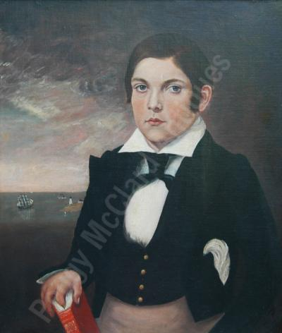 Antique Portrait of Young Mariner