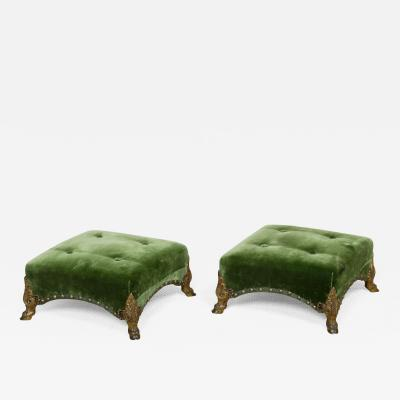 Antique Pure Regency Period Footstools Benches