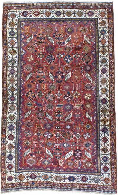 Antique Qashqai Tribal Rug