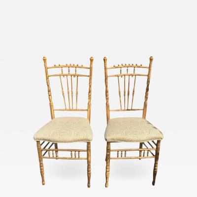 Antique Regency Style Side Chairs a Pair