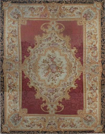 Antique Rug French Aubusson