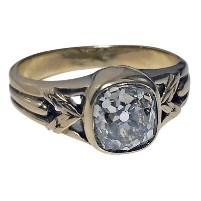 Antique Russian Diamond Gold Ring