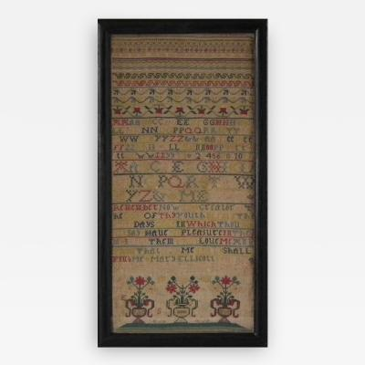Antique Sampler 1742 by Mary Ellicott
