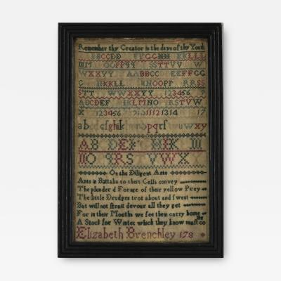 Antique Sampler 1780s by Elizabeth Brenchley