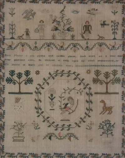 Antique Sampler 1834 by Ann Jones
