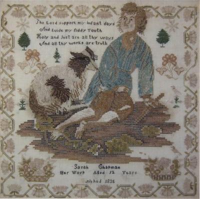 Antique Sampler 1838 by Sarah Chapman
