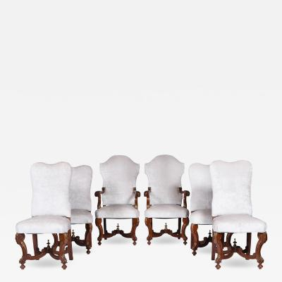 Antique Set of Six Upholstered Dining Chairs in Revival Style France 1920s