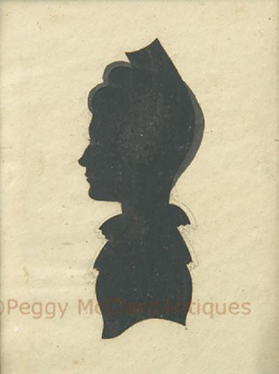 Antique Silhouette Woman