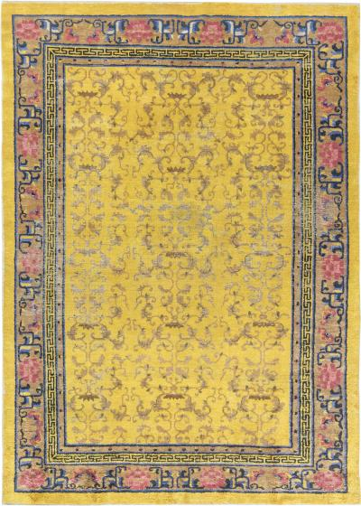 Antique Silk Chinese Rug