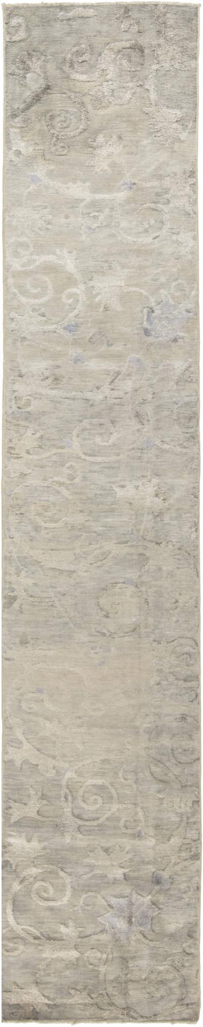 Antique Silk Chinese Runner fragment