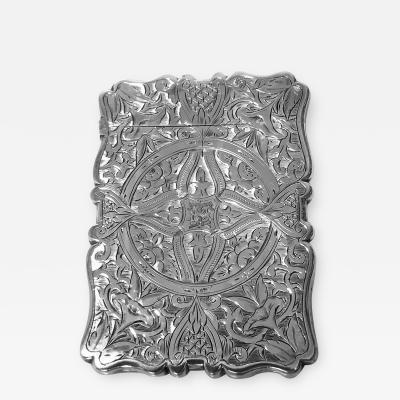 Antique Silver Card Case Birmingham 1869 Frederick Marson