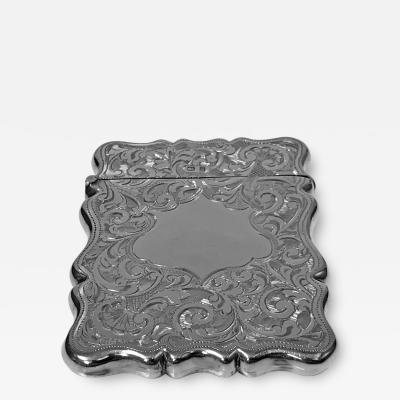 Antique Silver Card Case Birmingham 1906 Joseph Gloster