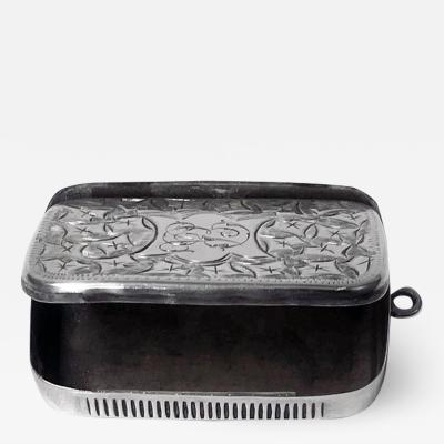 Antique Silver Puzzle Vesta Match Box Case Birmingham 1898 Joseph Gloster