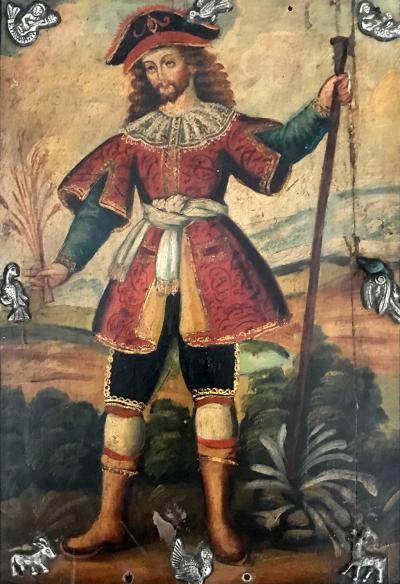 Antique Spanish Colonial Painting Cuzco School