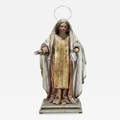 Antique Spanish Colonial Statue Madonna
