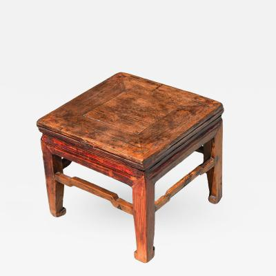 Antique Square Country Stool