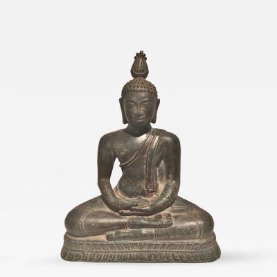 Antique Sri Lankan Kandyan Bronze Buddha