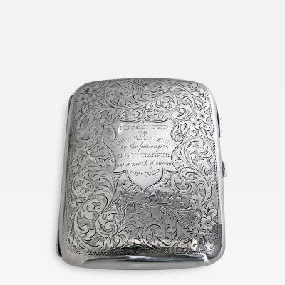 Antique Sterling Silver Cigarette or Card Case American C 1915
