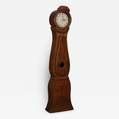 Antique Swedish Brown Mora Grandfather Clock dated 1828