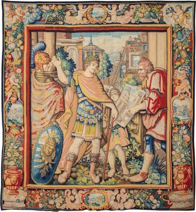Antique Tapestry Allegory of the Architect XVIIth century