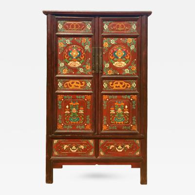 Antique Tibetan Cabinet Hand Painted