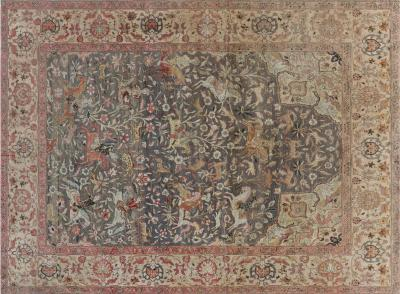 Antique Turkish Hereke Rug