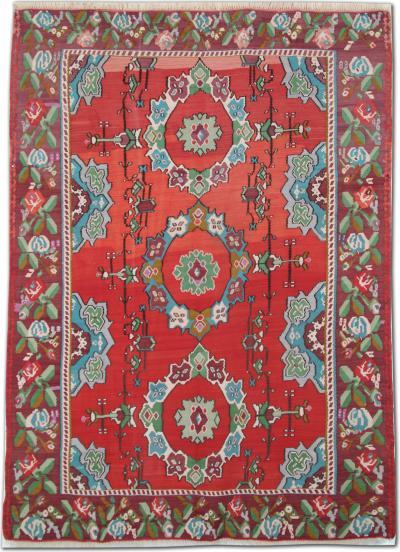 Antique Turkish Kilim Rug 207 X 287 Cm