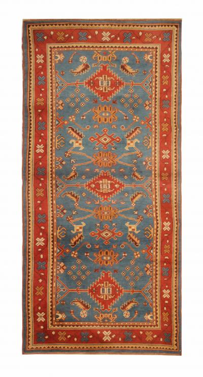 Antique Turkish Oushak Area Rug 100 X 223 Cm