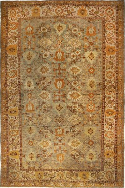 Antique Turkish Oushak Rug size adjusted