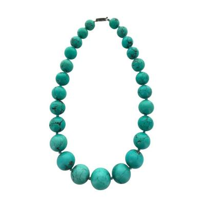 Antique Turquoise Matrix Necklace