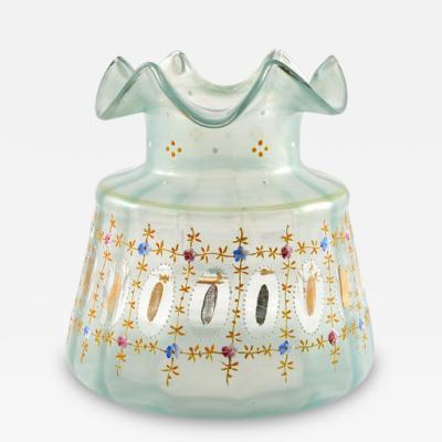Antique Venetian Glass Vase Italian Murano