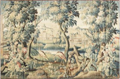 Antique Verdure Tapestry fragment