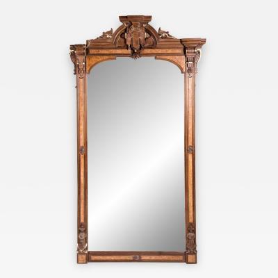 Antique Victorian Pier Mirror